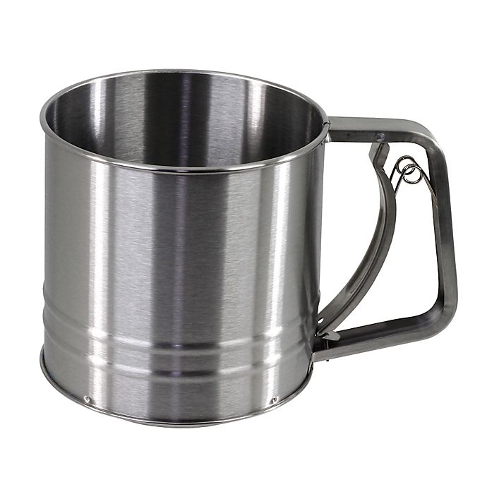 Alternate image 1 for SALT™ 3-Cup Stainless Steel Flour Sifter