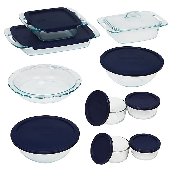 Alternate image 1 for Pyrex® 19-Piece Glass Bake and Store Set