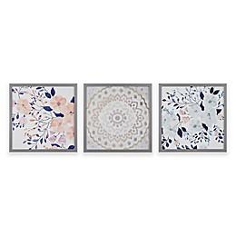 Intelligent Design® Summer Bliss Deco Box Wall Art (Set of 3)