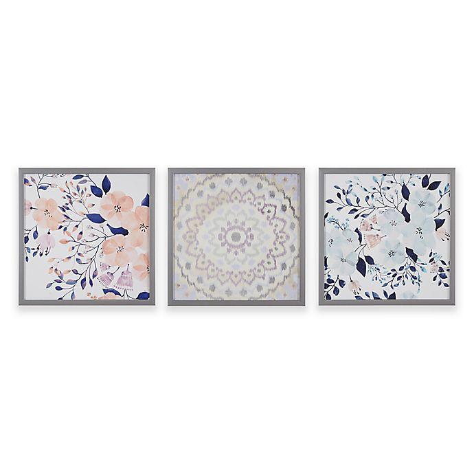 Alternate image 1 for Intelligent Design® Summer Bliss Deco Box Wall Art (Set of 3)