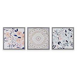 Intelligent Design® Summer Bliss Deco Box Wall Art (Set of 3)