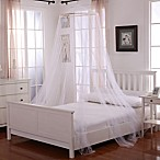 Oasis Round Hoop Sheer Bed Canopy in White