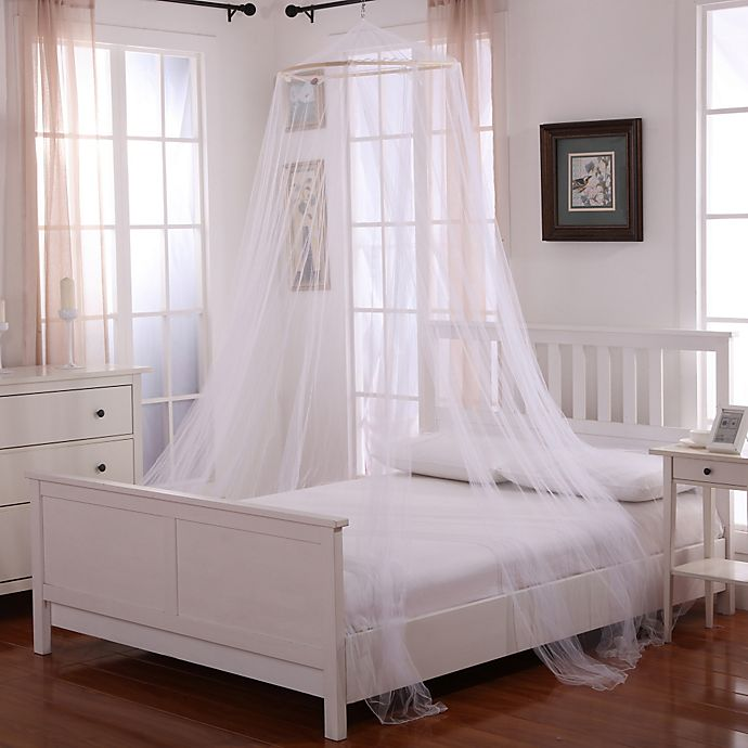 Alternate image 1 for Oasis Round Hoop Sheer Bed Canopy