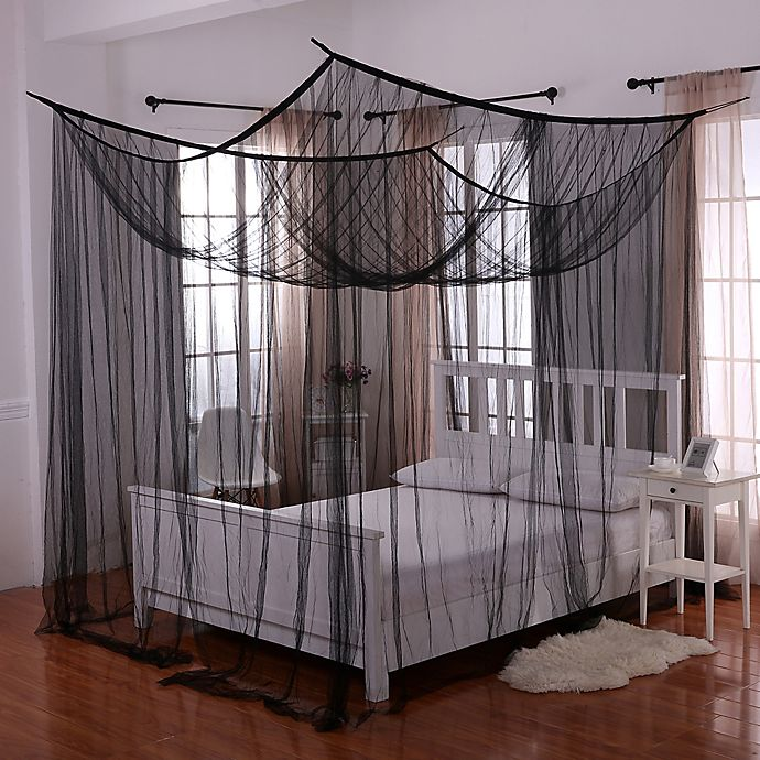 Alternate image 1 for Palace 4-Poster Bed Canopy in Black