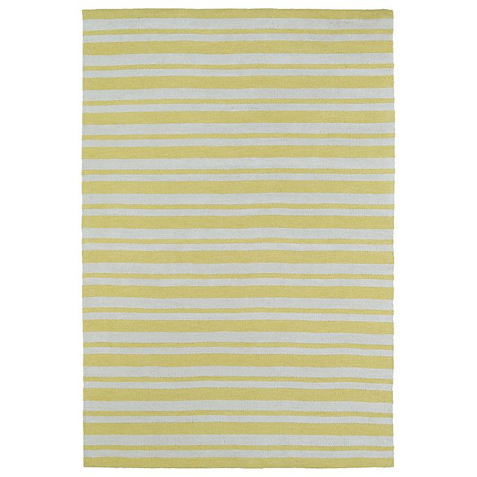 Alternate image 1 for Kaleen Lily & Liam Sunwash Stripe 8-Foot x 10-Foot Area Rug in Yellow