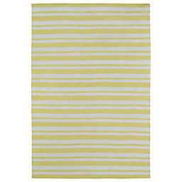 Kaleen Lily & Liam Sunwash Stripe 8-Foot x 10-Foot Area Rug in Yellow