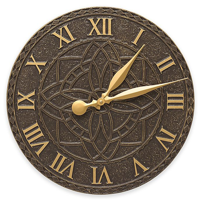 Alternate image 1 for Whitehall Products Artisan Indoor/Outdoor Wall Clock in French Bronze