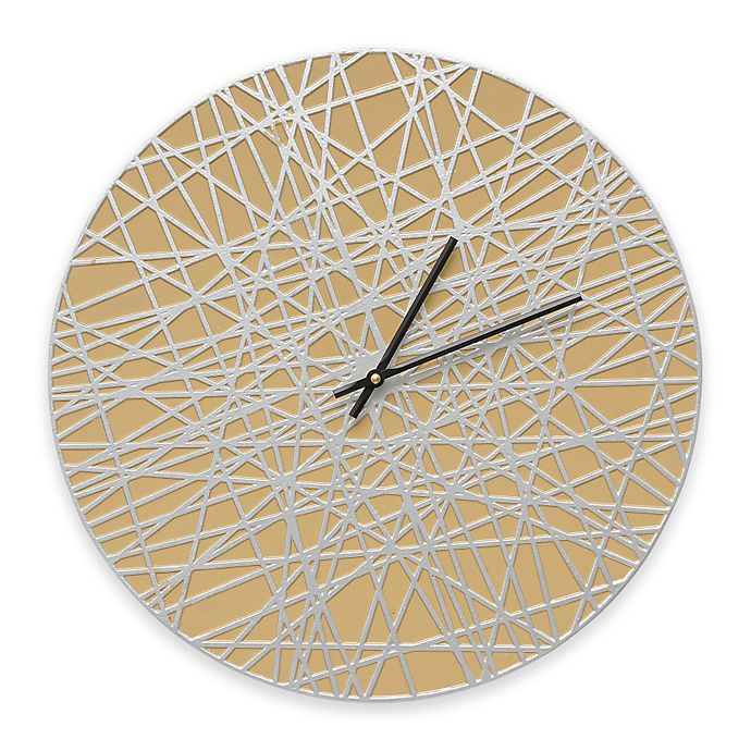 Alternate image 1 for Whitehall Products Banded Indoor/Outdoor Wall Clock in Curry/Silver