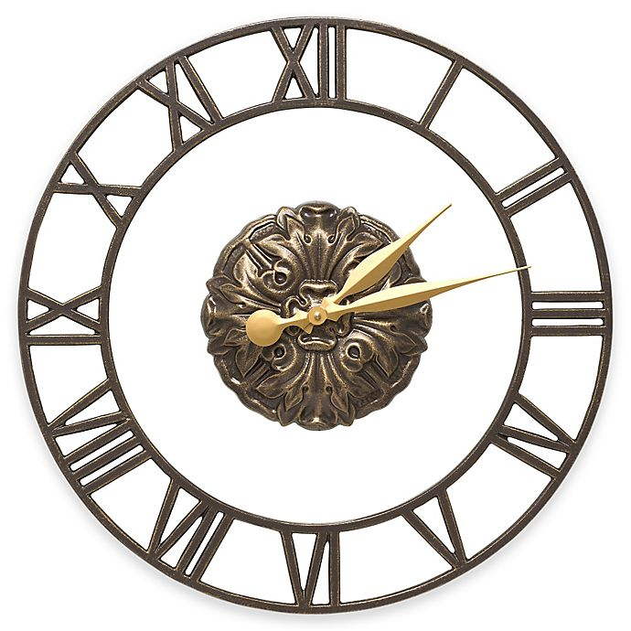 Alternate image 1 for Whitehall Products Cambridge Wall Clock in French Bronze