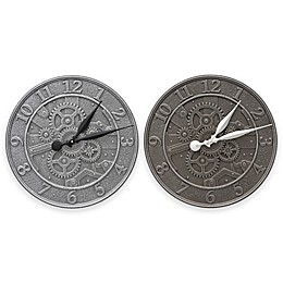 Whitehall Products 16-Inch Gear Indoor/Outdoor Wall Clock