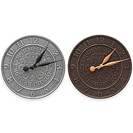 Whitehall Products Three Crowns in Coin 16-Inch Indoor/Outdoor Wall Clock