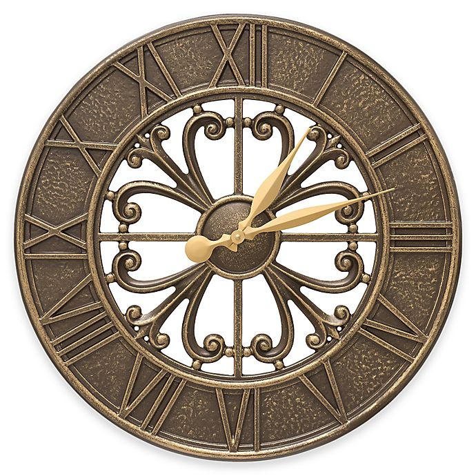 Alternate image 1 for Whitehall Products Villanova 21-Inch Indoor/Outdoor Clock in French Bronze