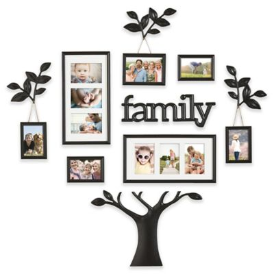 Wallverbs 12 Piece Family Branch Finial Tree Photo Frame Set In