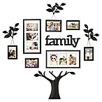 WallVerbs™ 12-Piece  Family  Branch Finial Tree Photo Frame Set in Black