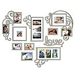 WallVerbs™ 10-piece Heart Love Scroll Photo Frame Set in Silver