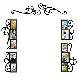 WallVerbs™ 6-Piece Over-the-Door Scroll Photo Frame Set in Black