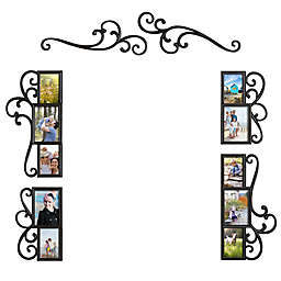 WallVerbs™ 6-Piece Over-the-Door Scroll Photo Frame Set in Black