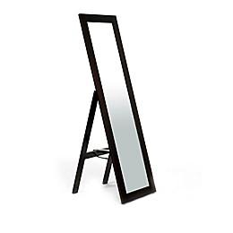 Baxton Studios Lundy Standing Floor Mirror in Dark Brown