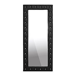 Baxton Studio 31.5-Inch x 71-Inch Stella Tufted Floor Mirror in Black