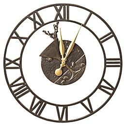 Whitehall Products 21-Inch Martini Floating Ring Indoor/Outdoor Wall Clock in French Bronze