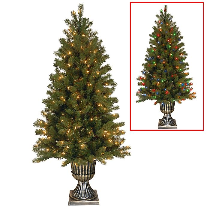 Pre Lit Led Lights Christmas Tree: Feel Real® Downswept Douglas Fir Pre-Lit Christmas Tree