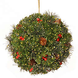 National Tree Company 12-Inch LED Infinity™ Crestwood Spruce Pre-Lit Kissing Ball