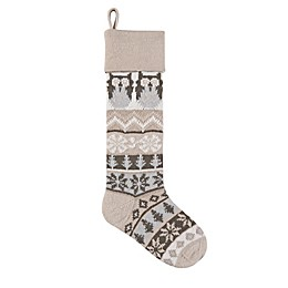 Knit Owl 28-Inch Christmas Stocking