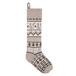 Knit Squirrel 28-Inch Christmas Stocking