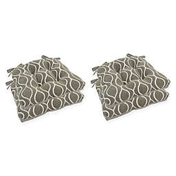 Arlee Home Fashions® Geometric Chair Pads (Set of 4)