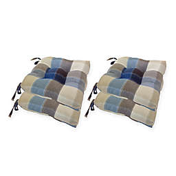 Arlee Home Fashions® Harris Plaid Chair Pad (Set of 4)