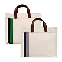 CB Station Small Striped Square Tote
