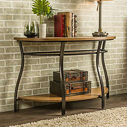 Baxton Studio Newcastle Console Table in Brown
