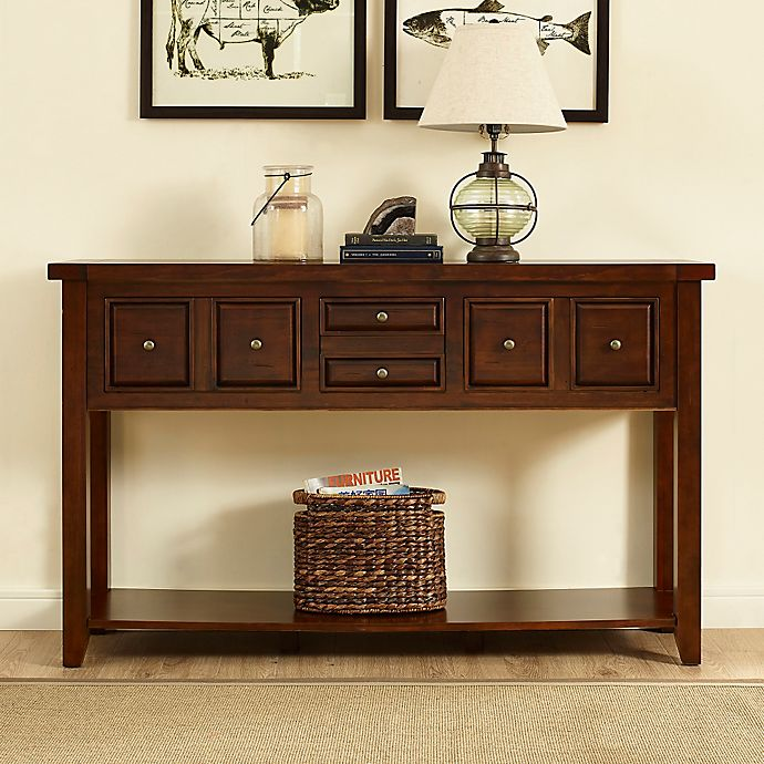 Foyer Table Bed Bath And Beyond : Crosley sienna entryway table bed bath beyond