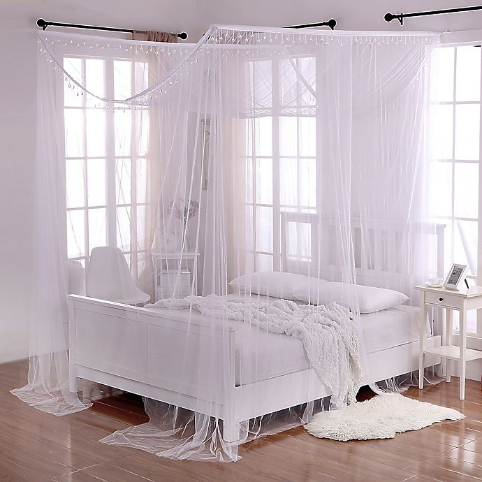 Crystal Sheer 4 Poster Bed Canopy In