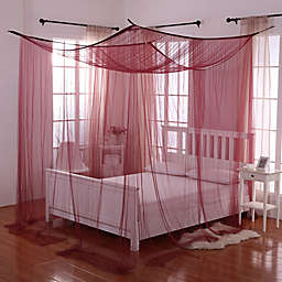 Palace 4-Poster Bed Canopy in Burgundy