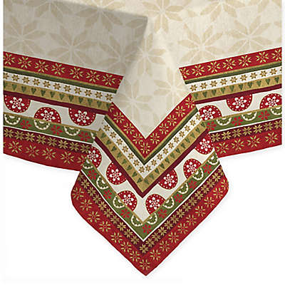 Laural Home Simply Christmas Tablecloth