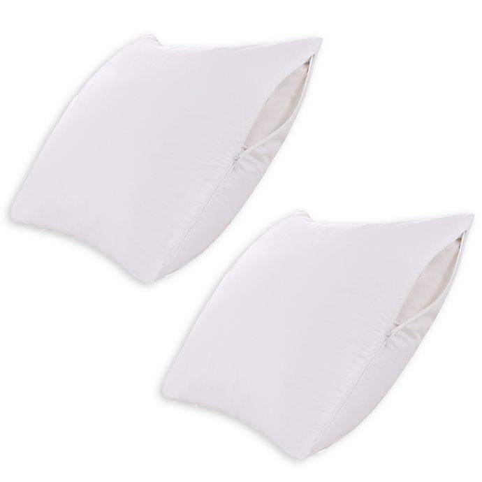 Alternate image 1 for Clean Living 2-Pack Microfiber Queen Pillow Protector