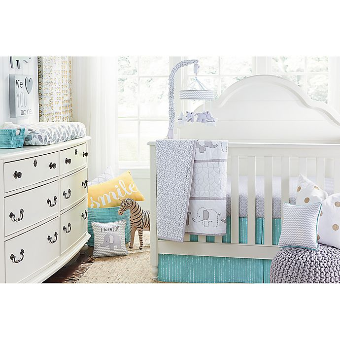 Alternate image 1 for Wendy Bellissimo™ Unisex Mix & Match Crib Bedding Collection in Grey/Yellow