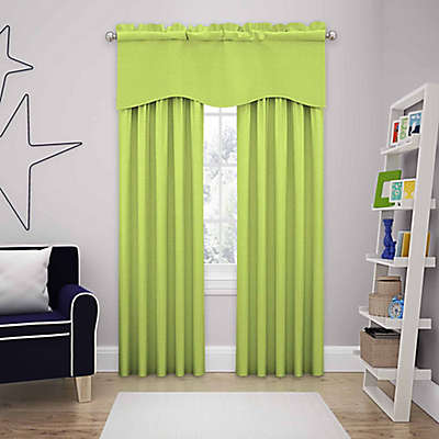 SolarShield® Kate Rod Pocket Room Darkening Window Curtain Panel and Valance
