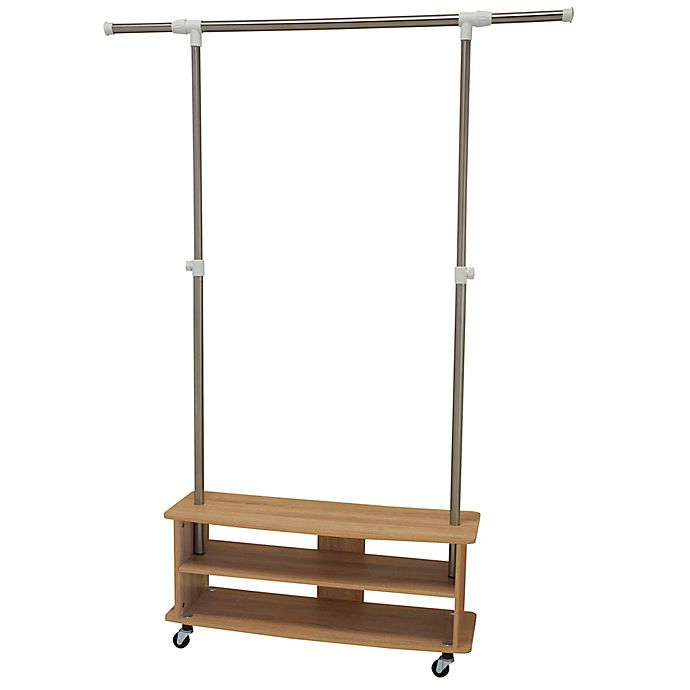 Alternate image 1 for Household Essentials® Shoe Cubby Garment Rack in Light Ash