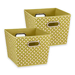 Household Essentials® Tapered Storage Bins (Set of 2)