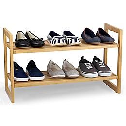 Sunbeam® 2-Shelf Bamboo Shoe Organizer