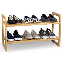 Sunbeam® 2-Shelf Bamboo Shoe Organizer