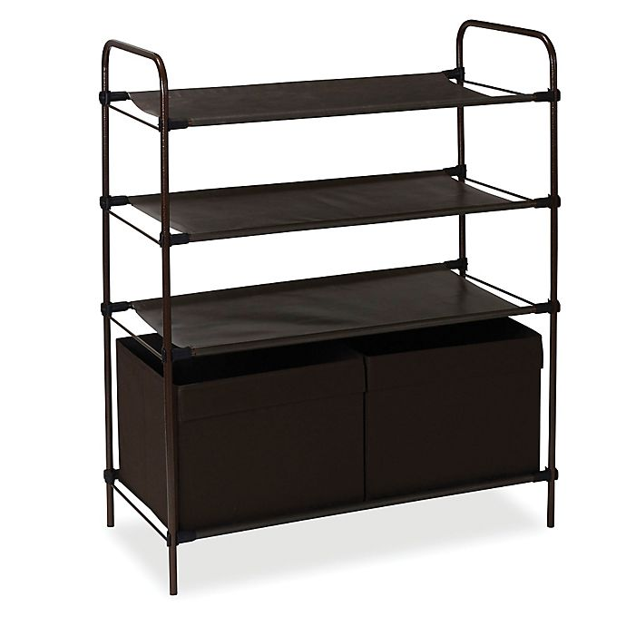 Alternate image 1 for Household Essentials® Craft and Shoe Storage Shelf with Bins