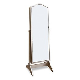 Abbyson Living® Sophie Standing Mirror Jewelry Armoire in Silver/Glass
