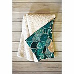 Deny Designs 60-Inch x 50-Inch Monika Strigel Really Mermaid Fleece Throw Blanket in Blue