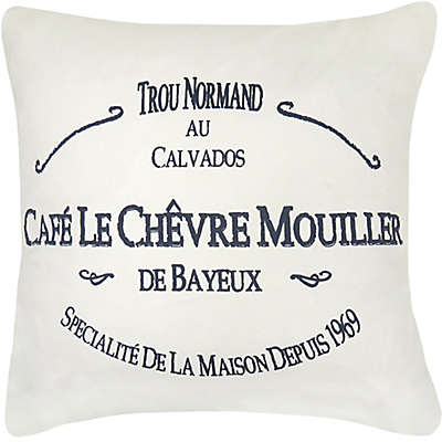 Park B. Smith® Café Le Chevre Square Throw Pillow in Cream