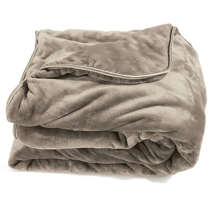 Alternate image 1 for Brookstone® Weighted Blanket in Taupe