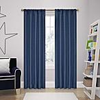 SolarShield® Kate 84-Inch Rod Pocket Room Darkening Window Curtain Panel in Denim