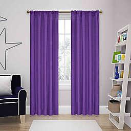 SolarShield® Kate Rod Pocket Room Darkening Window Curtain Panel and Valance